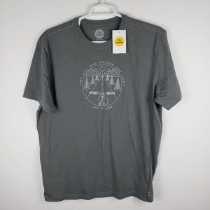Life is Good Mens Crusher Gray Tee Shirt Sz XL NWT